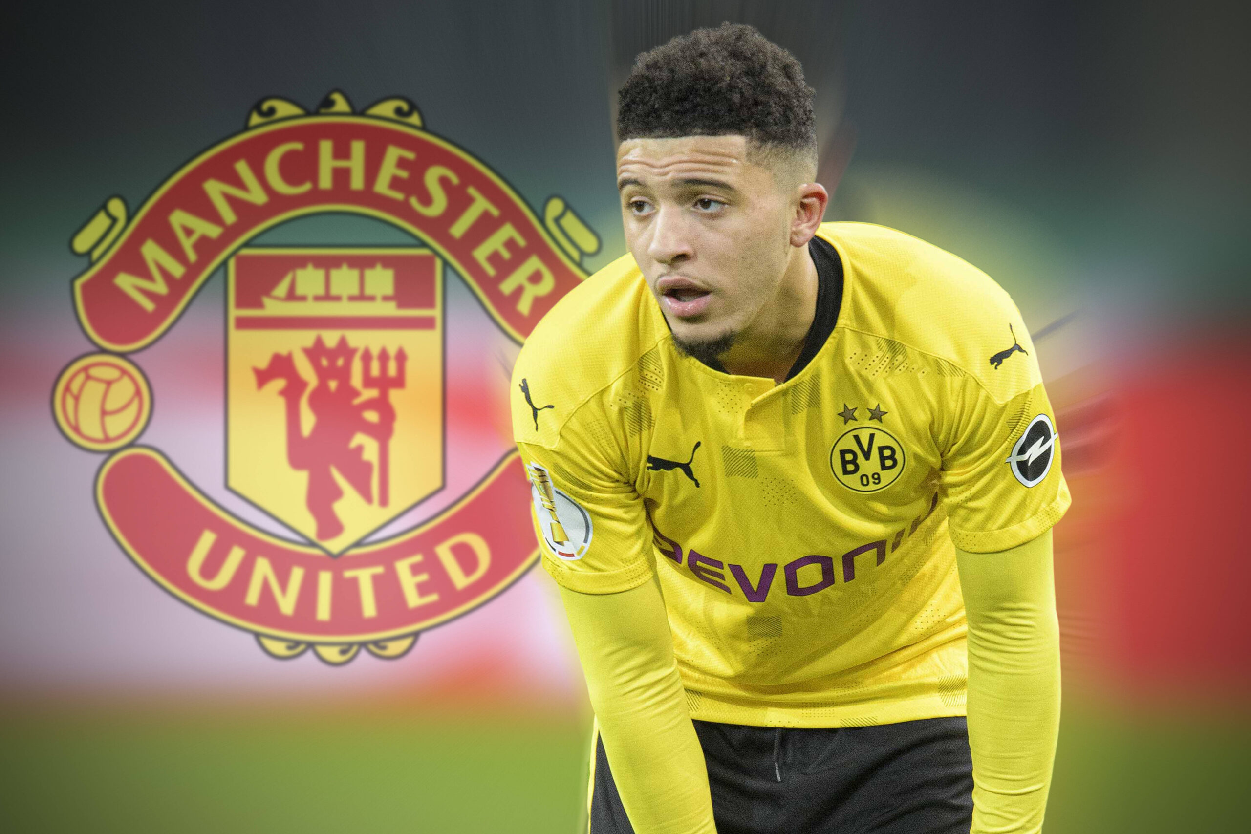 Jadon Sancho firma por el Manchester United. Firma: Imago Images