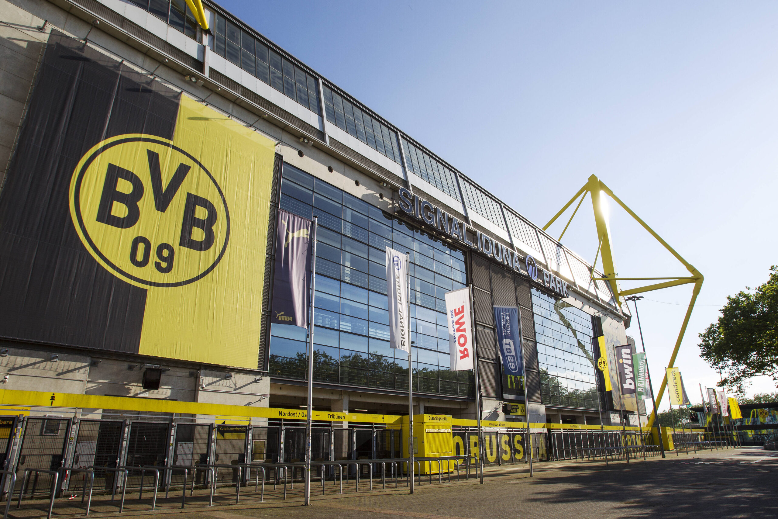 El Signal Iduna Park, templo de Borussia Dortmund, ahora un arma más contra la pandemia. Foto: Imago