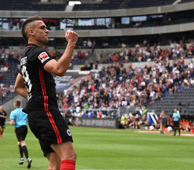 Rafael Santos Borré y un debut soñado en Frankfurt. Foto: Imago.