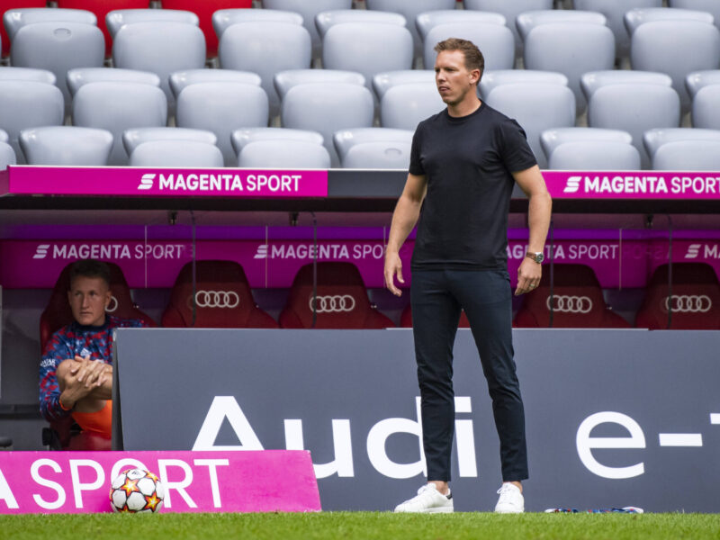 Nagelsmann no la pasa bien en esta pretemporada de FC Bayern München. Foto: Imago.