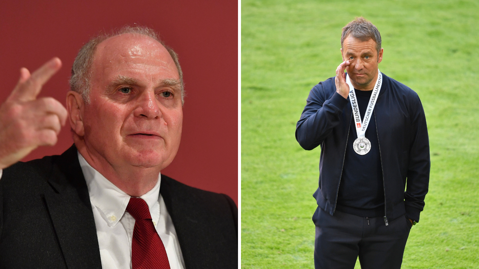 Hoeness y Flick, una relación fallida en el Bayern. Fotos: Imago