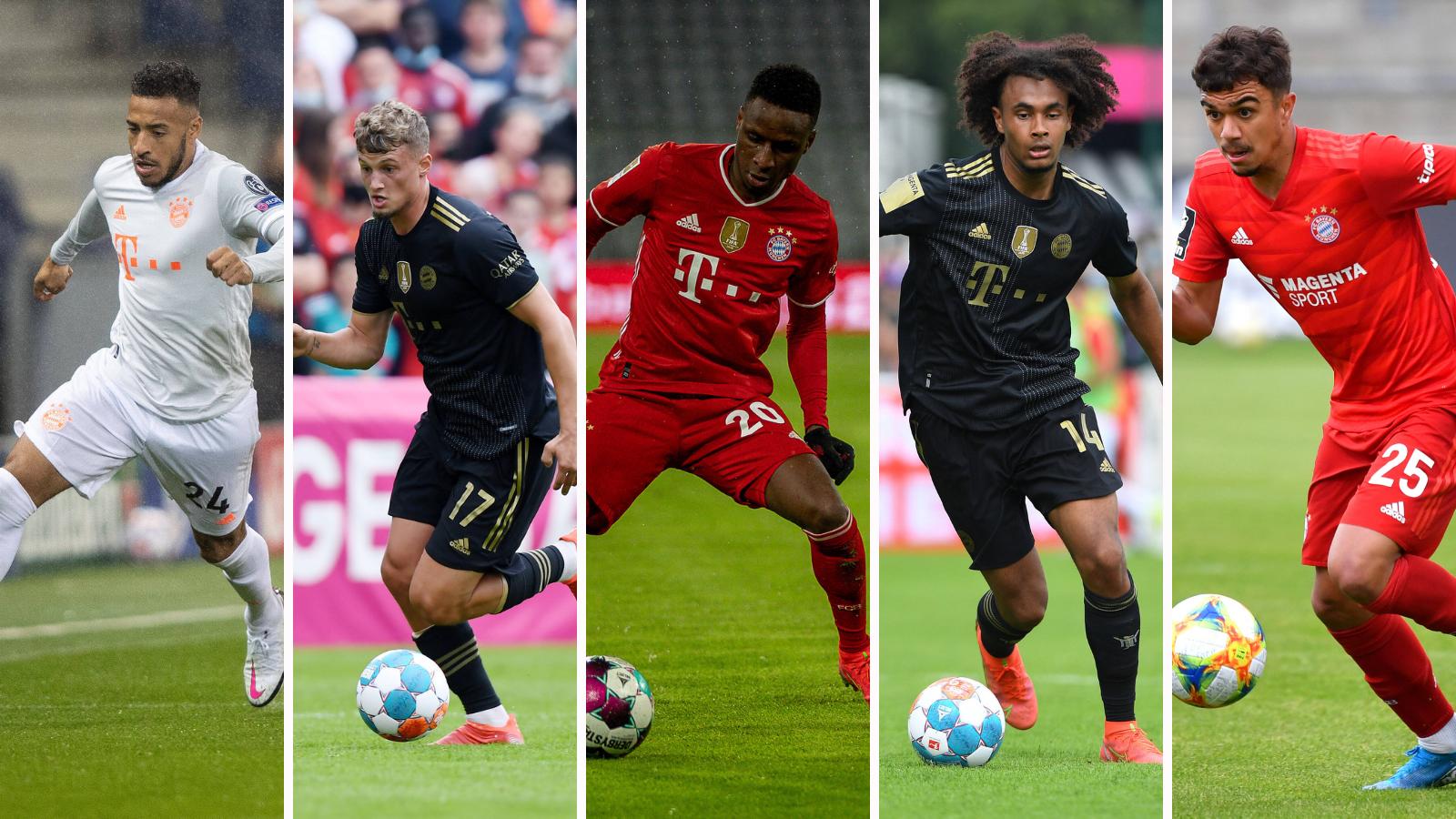 Tolisso, Cuisance, Sarr, Zirkzee y Batista Meier, los favoritos para abandonar el FC Bayern. Fotos: Imago