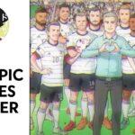 El plantel alemán para Tokio, como si fuera un anime. Fuente: Youtube