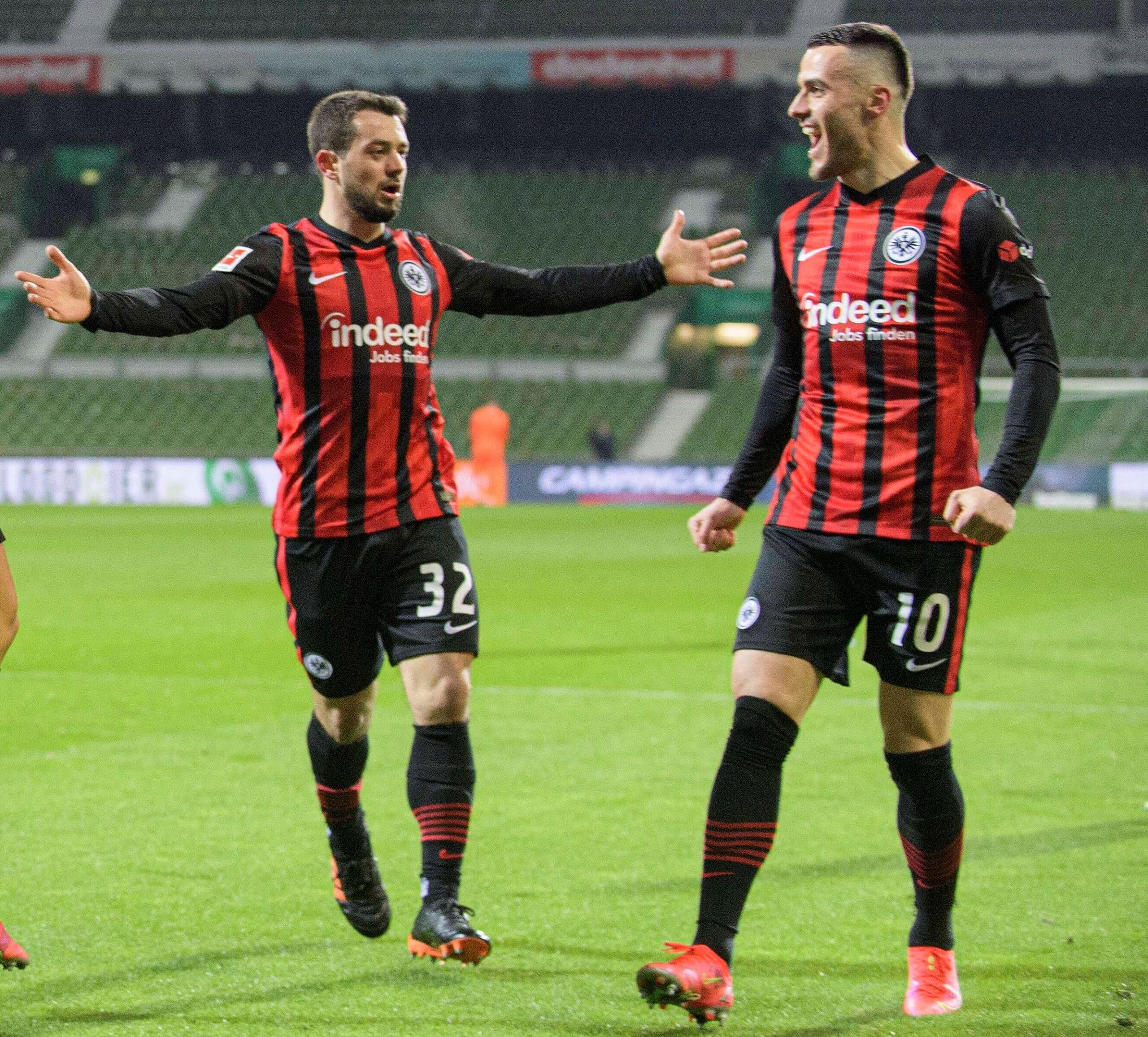 Más allá de su interés, Amin Younes y Filip Kostic permanecerán en Eintracht Frankfurt. Foto: Imago.