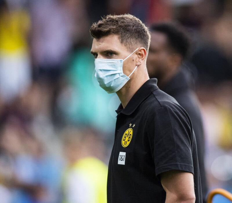 Gracias al COVID-19, Thomas Meunier es nueva baja en Borussia Dortmund. Foto: Imago.