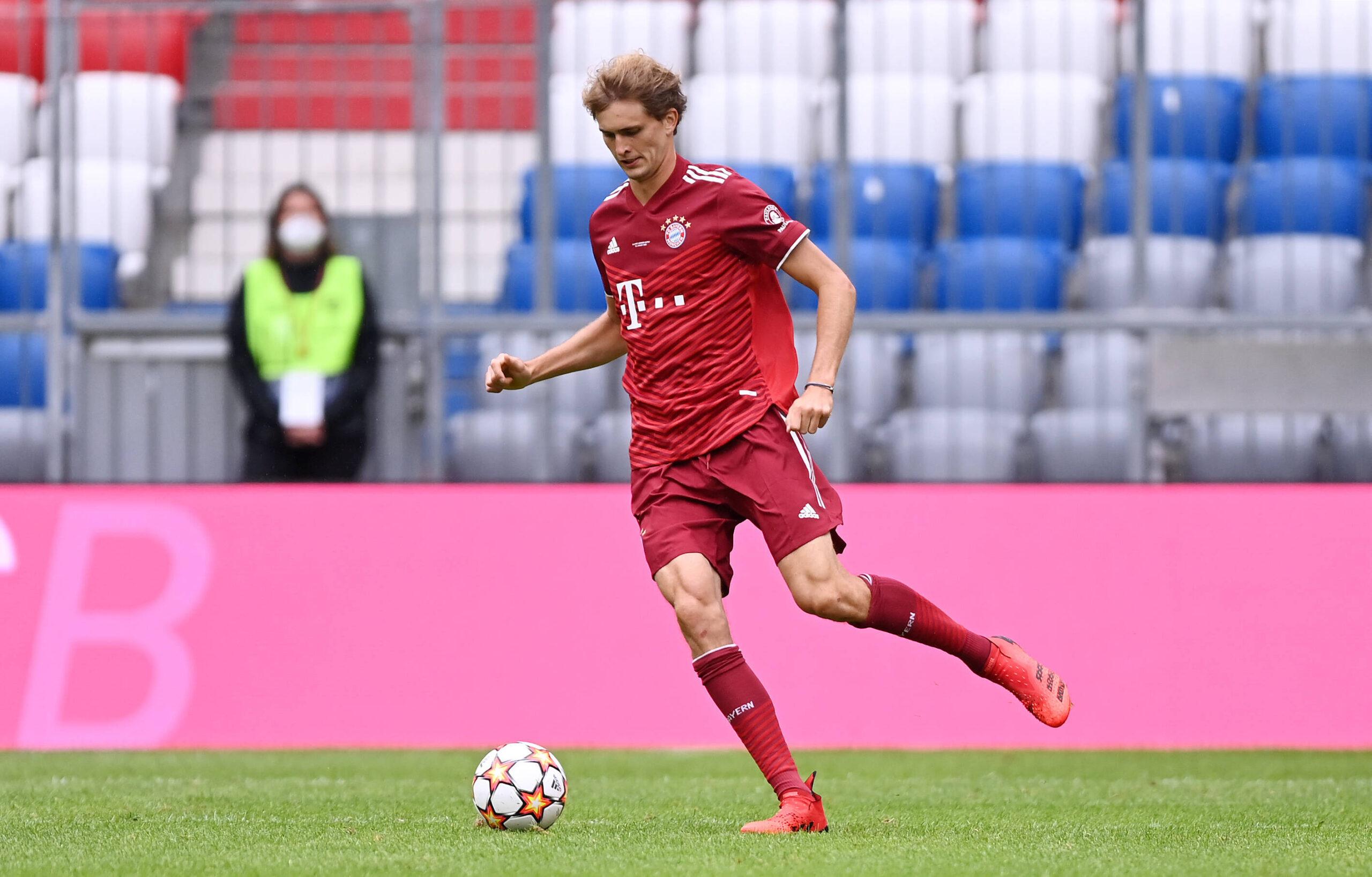 Zverev en la presentación del equipo de FC Bayern München. Foto: Imago.