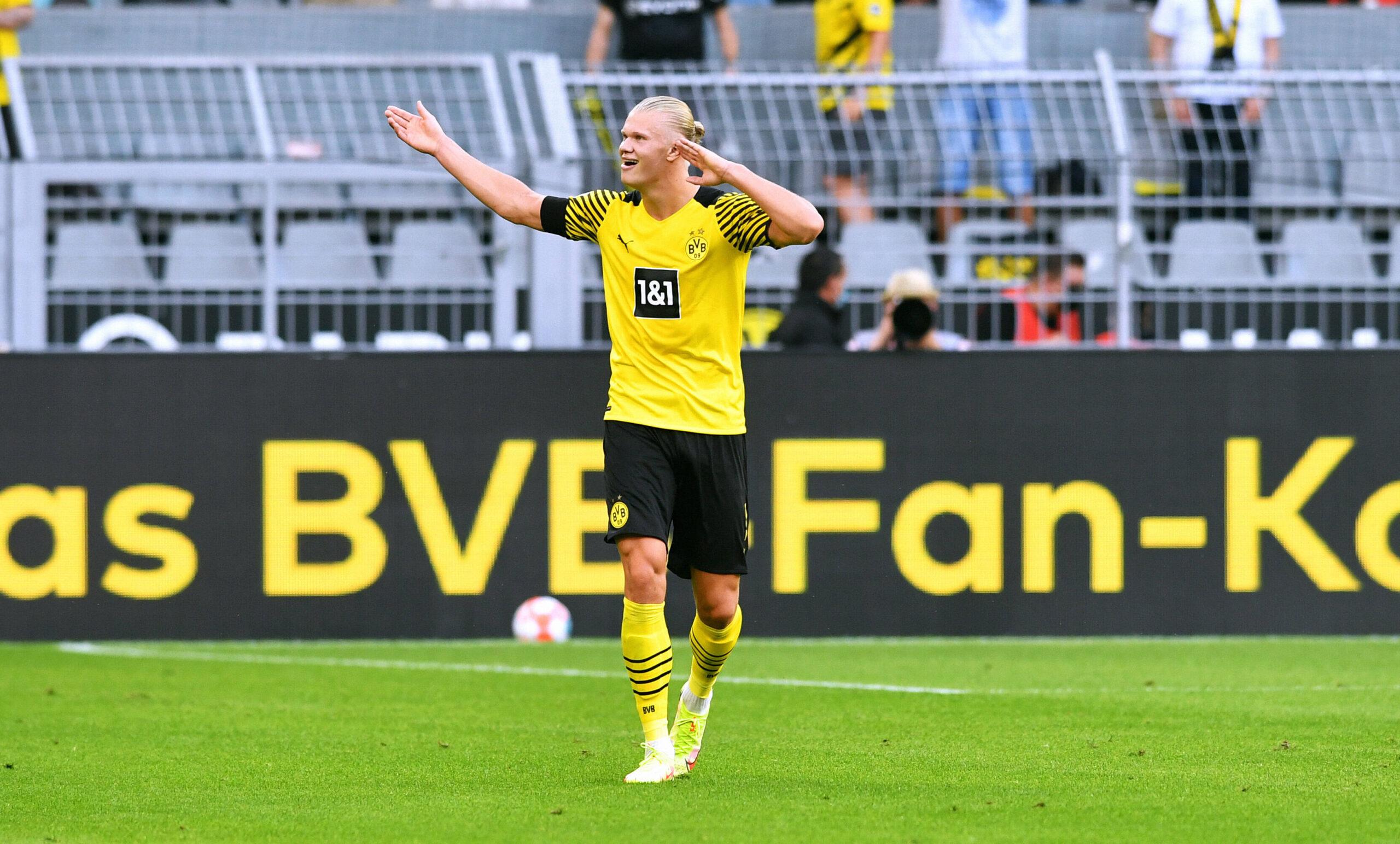 Erling Haaland el gran lider de la victoria por 5:1 de Borussia Dortmund sobre Eintracht Frankfurt. Foto: Imago.
