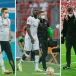 Matthias Ginter, Marcus Thuram y Stefan Lainer, tres bajas muy sensibles para Borussia Mönchengladbach. Foto: Imago.