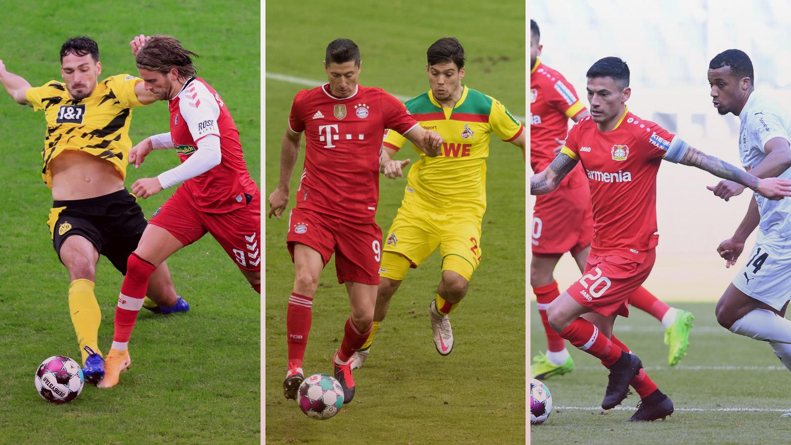 Los tres partidos destacados del fin de semana en la Bundesliga. Fotos: Imago.