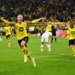 Erling Haaland el gran salvador de un Dortmund que no brilla. Foto: Imago.
