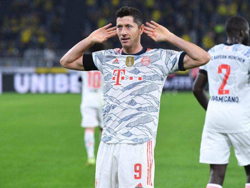 Robert Lewandowski, el único que ha marcado por Bundesliga y por Supercopa alemana en FC Bayern München. Foto: Imago.