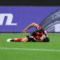 Exequiel Palacios cayó lesionado en la Europa League. Una baja muy dura para Bayer Leverkusen. Foto: Imago.