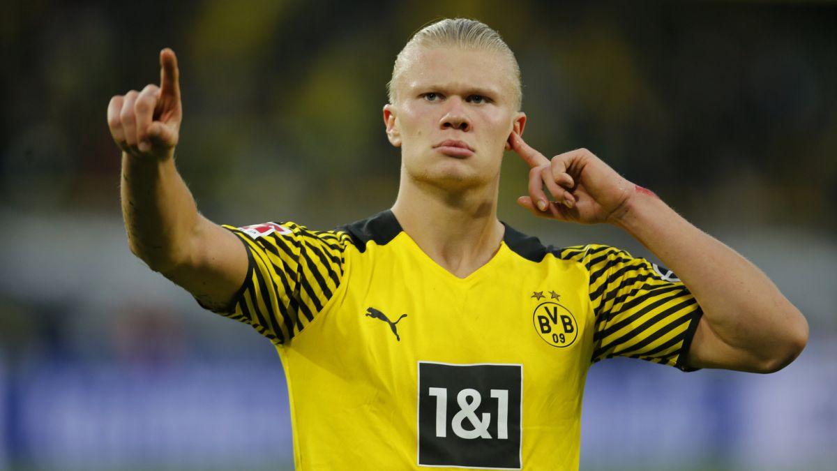 La Haaland - depedencia, el tema que ya está instalado como debate en Borussia Dortmund. Foto: Imago.