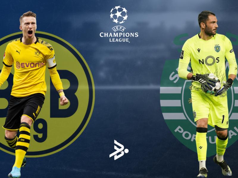 Borussia Dortmund se enfrenta a Sporting CP por UEFA Champions League..