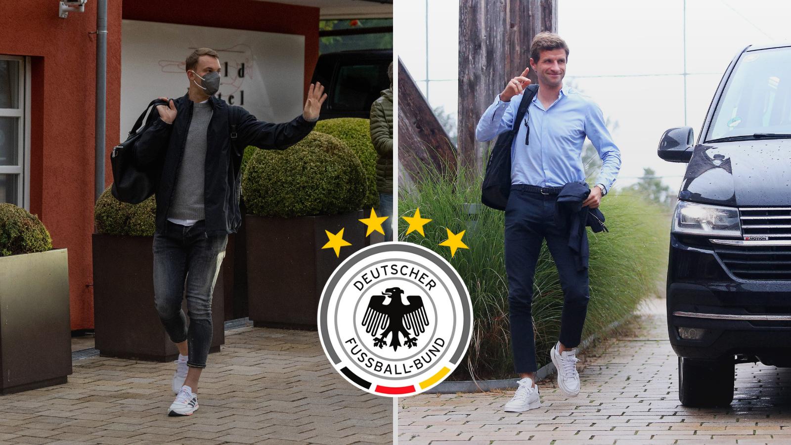 Manuel Neuer y Thomas Müller, bajas para la Selección Alemana frente a Liechtenstein. Foto: Imago