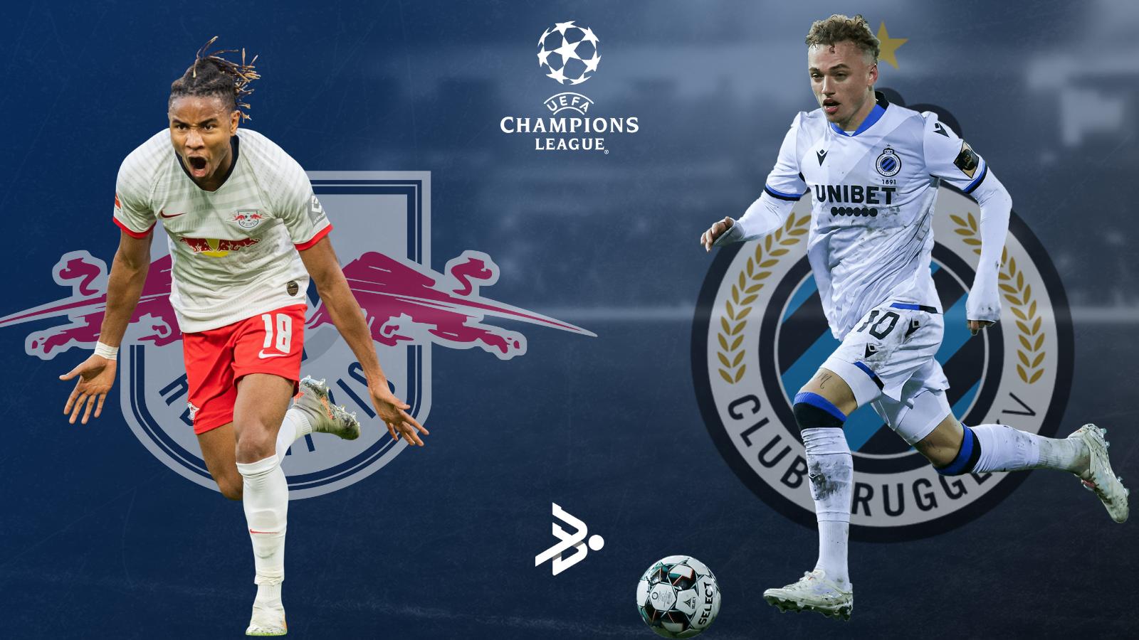 RB Leipzig chocacará con Club Brugge en la segunda jornada de UEFA Champions League.
