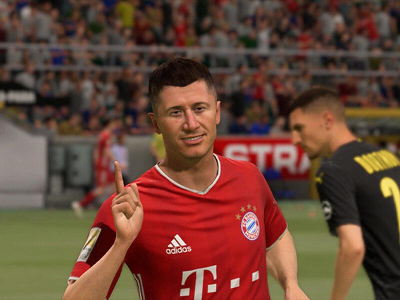 Robert Lewandowski lidera la tabla de las mejores valoraciones de la Bundesliga en FIFA 22.