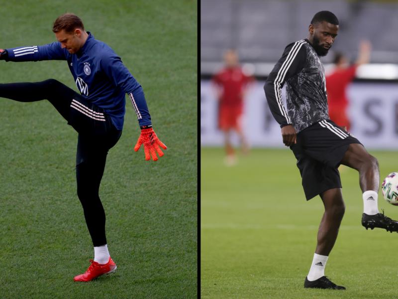 Neuer y Rüdiger son las dos noticias de Alemania, una positiva y la otra negativa. Foto: Getty Images