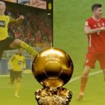 Erling Haaland y Robert Lewandowski son los únicos candidatos de la Bundesliga para ganar el Balón de Oro. Fotos: Getty Images.