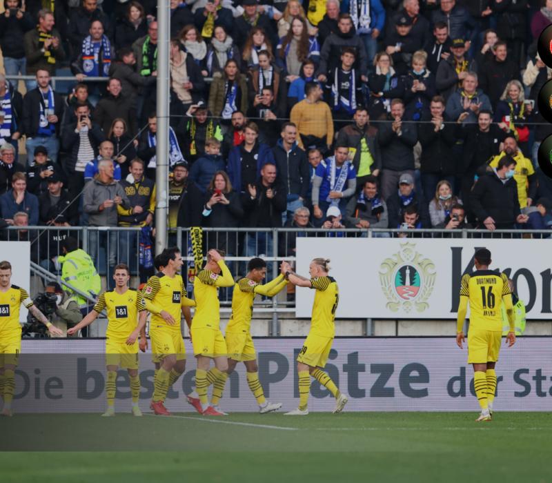 Borussia Dortmund no se descuelga en la lucha por la cabeza de la Bundesliga. Foto: Getty Images