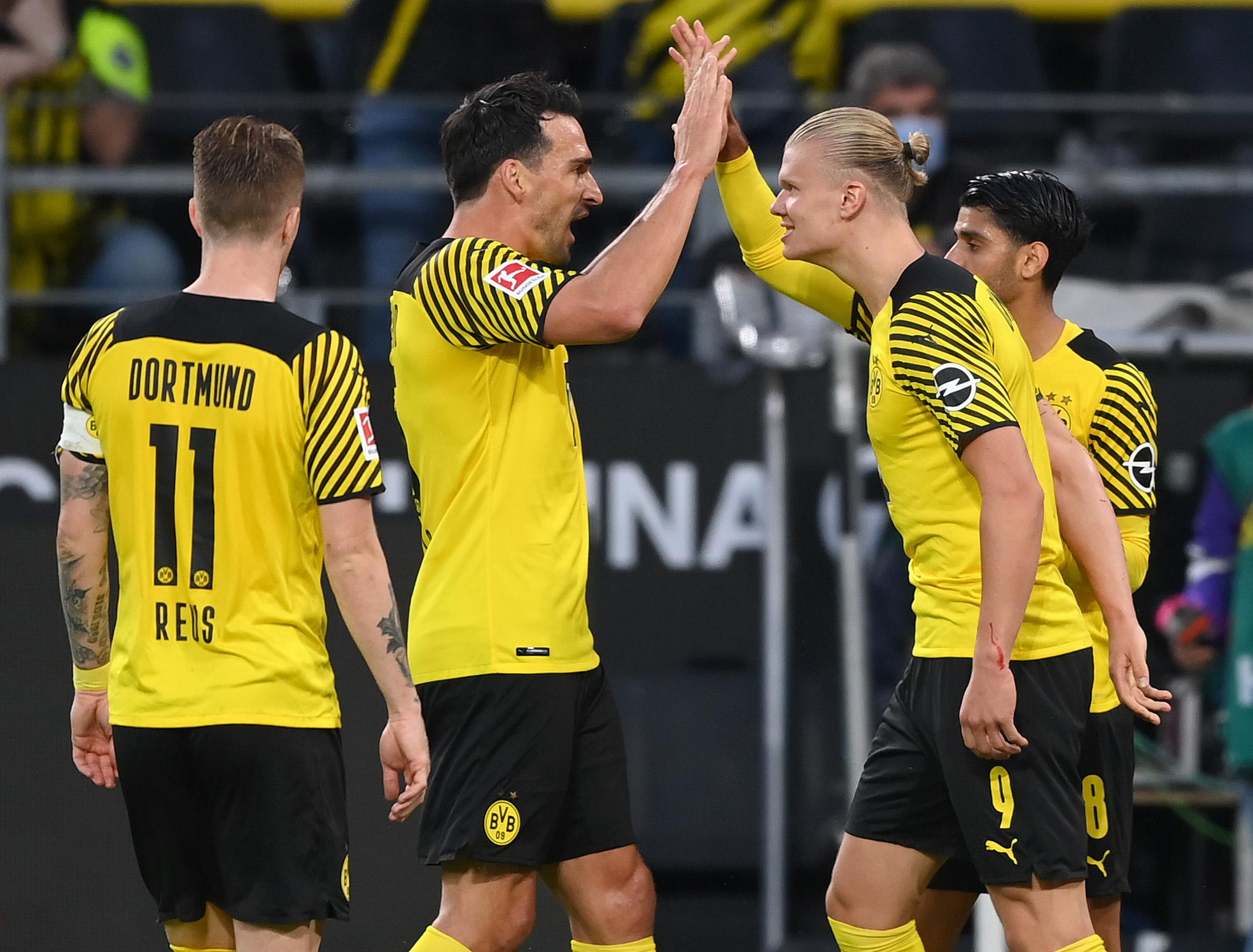 Hummels confía en todo lo que el Dortmund aún le puede ofrecer a Haaland. Foto: Getty Images