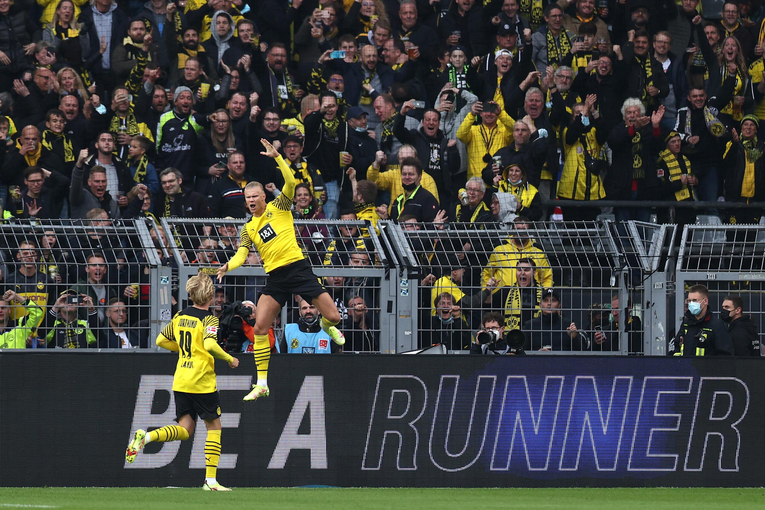 Erling Haaland retorna con gol en la victoria de Borussia Dortmund sobre Mainz 05. Foto: Getty Images.