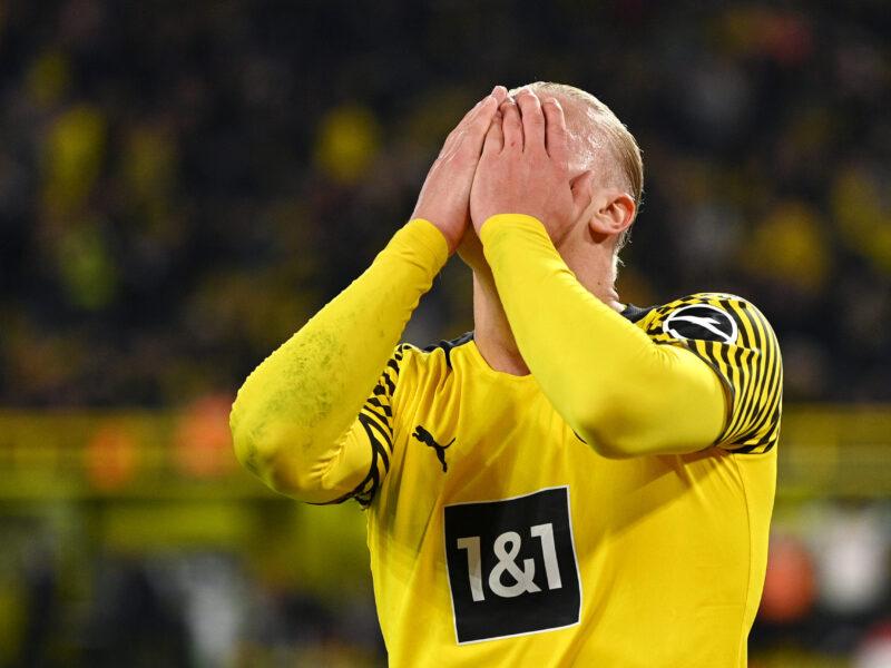 Erling Haaland, otra vez, lesionado. Foto: Getty Images.