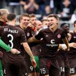 Los jugadores del St. Pauli celebran la goleada al Dynamo Dreden. Foto: Getty Images