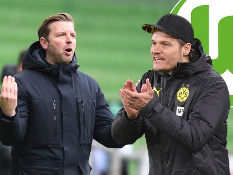 Los candidatos del VfL Wolfsburg: Florian Kohfeldt y Edin Terzic. © (c) Copyright 2021, dpa (www.dpa.de). Reservados todos los derechos
