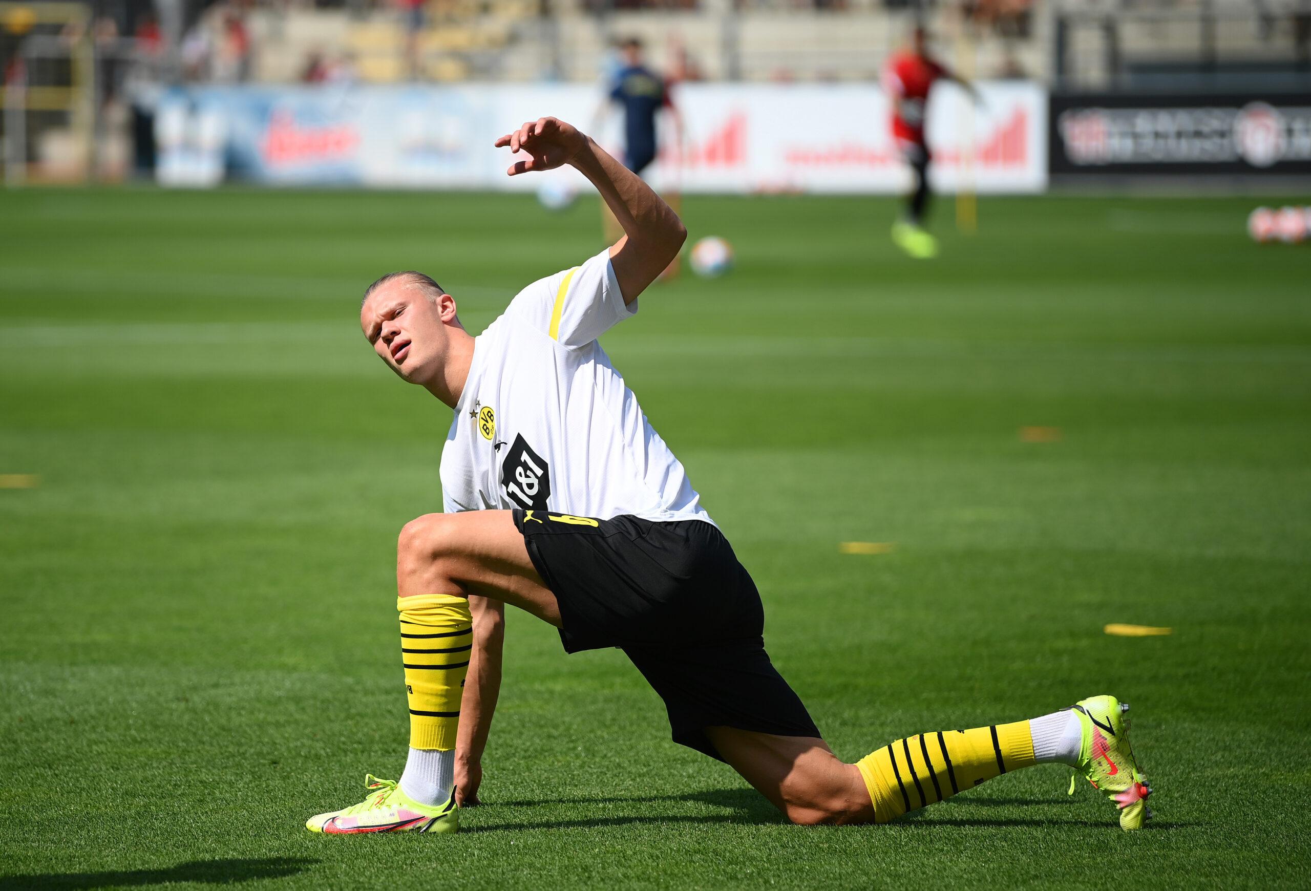 Erling Haaland se recuperó de su lesión y ya está de vuelta en Borussia Dortmund. Foto: Getty Images.